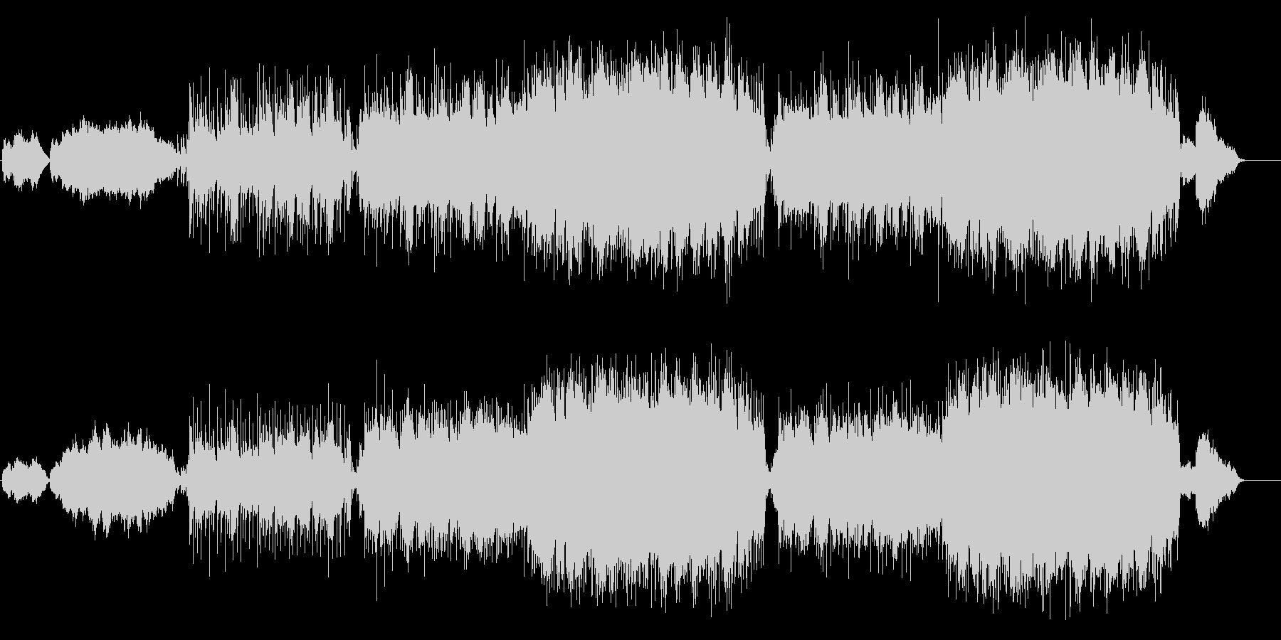 オーケストレーションの壮大なバラードの未再生の波形