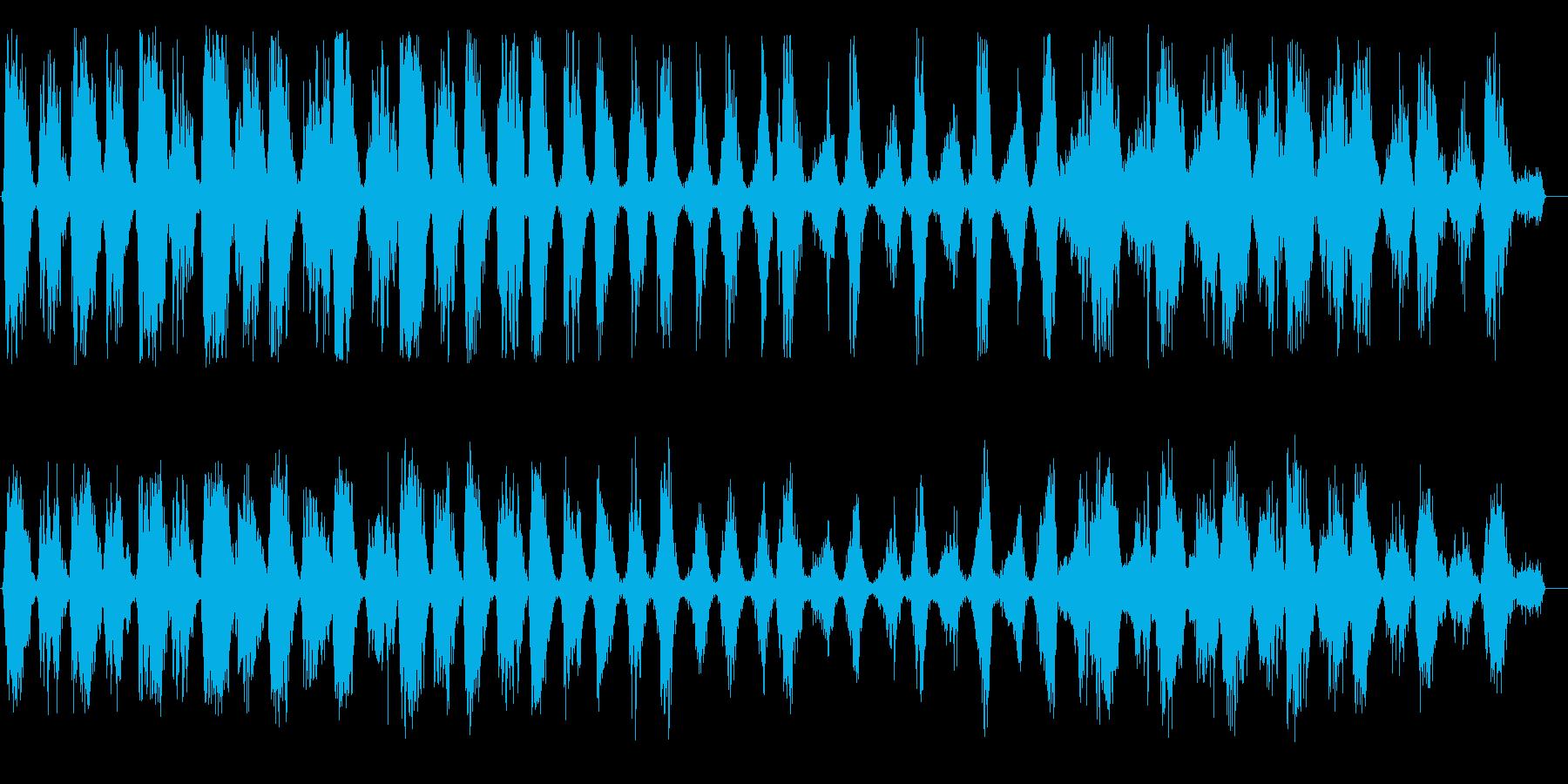 ガシュガシュ(鋸引きを一生懸命)の再生済みの波形