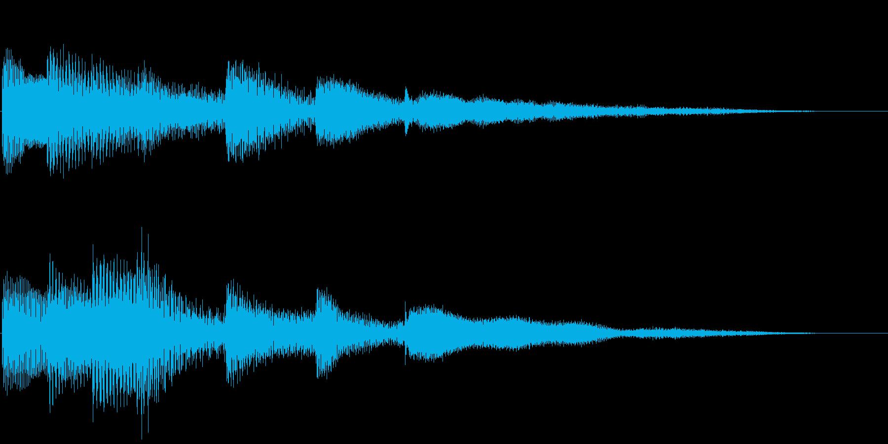 ピアノの神秘的なサウンドロゴの再生済みの波形
