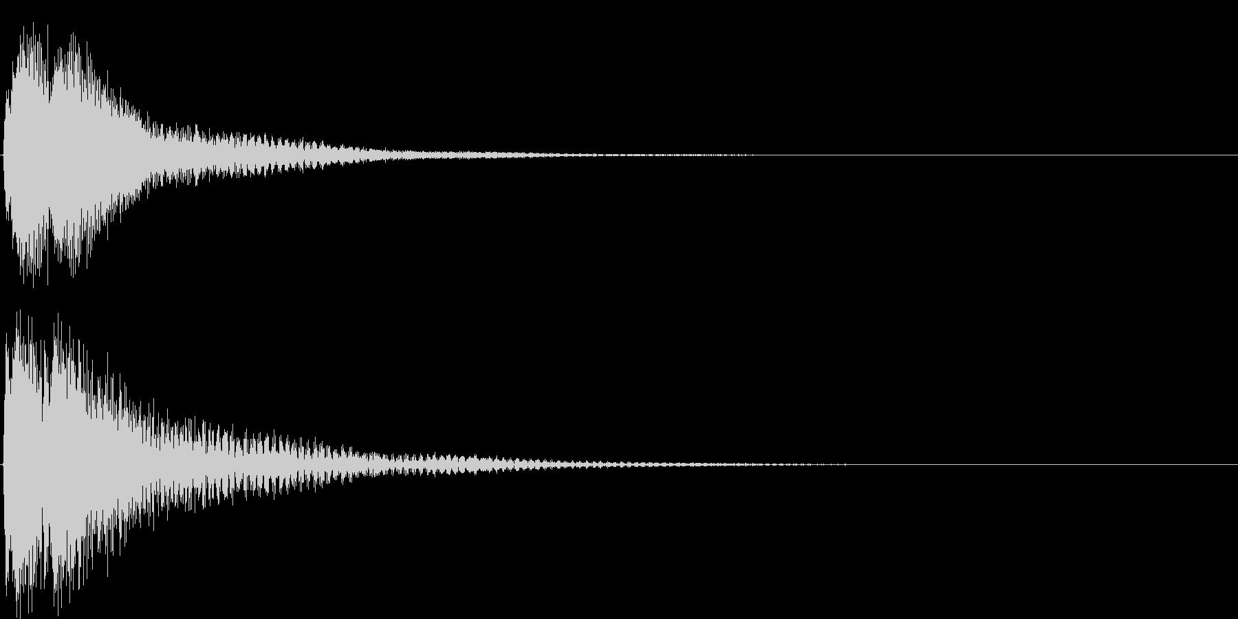 ジャジャン。クイズ出題・発表(高)の未再生の波形