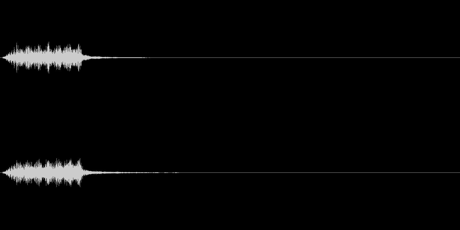 パチンコリーチ演出用上昇音の未再生の波形