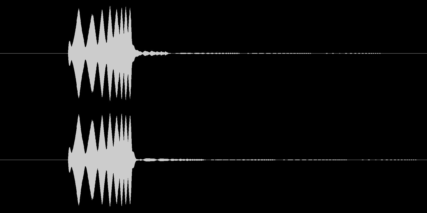 「ぴろりーん」決定音や経験値を手に入れ…の未再生の波形