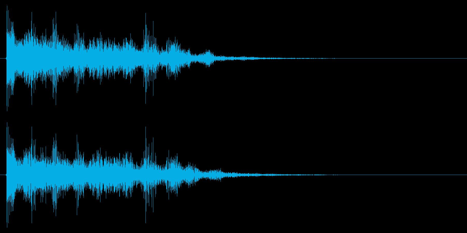 ミスした時の音 ゲームオーバー 失敗の再生済みの波形