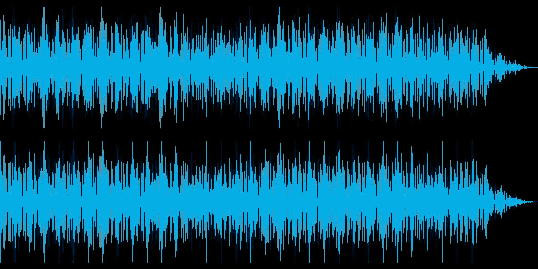 浮遊感のある海を意識したアンビエント楽曲の再生済みの波形