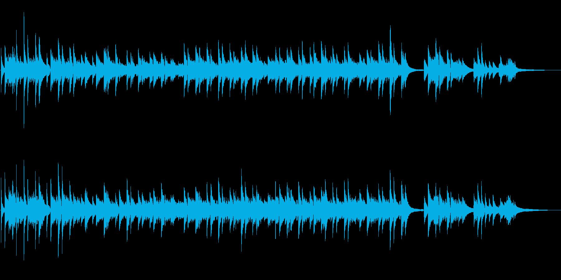 仰げば尊し 伴奏にもなるピアノ1コーラスの再生済みの波形