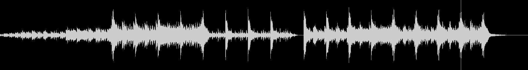 チェレスタとピアノの悲しい物語の未再生の波形