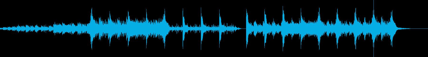 チェレスタとピアノの悲しい物語の再生済みの波形