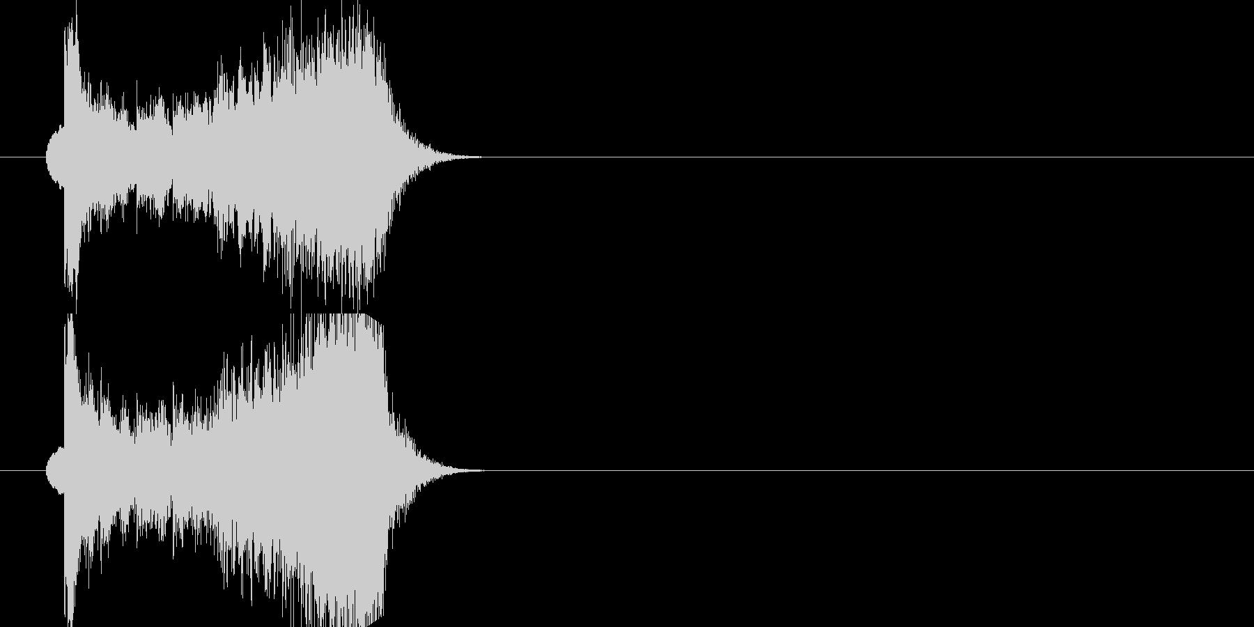 クラシックジングルの未再生の波形