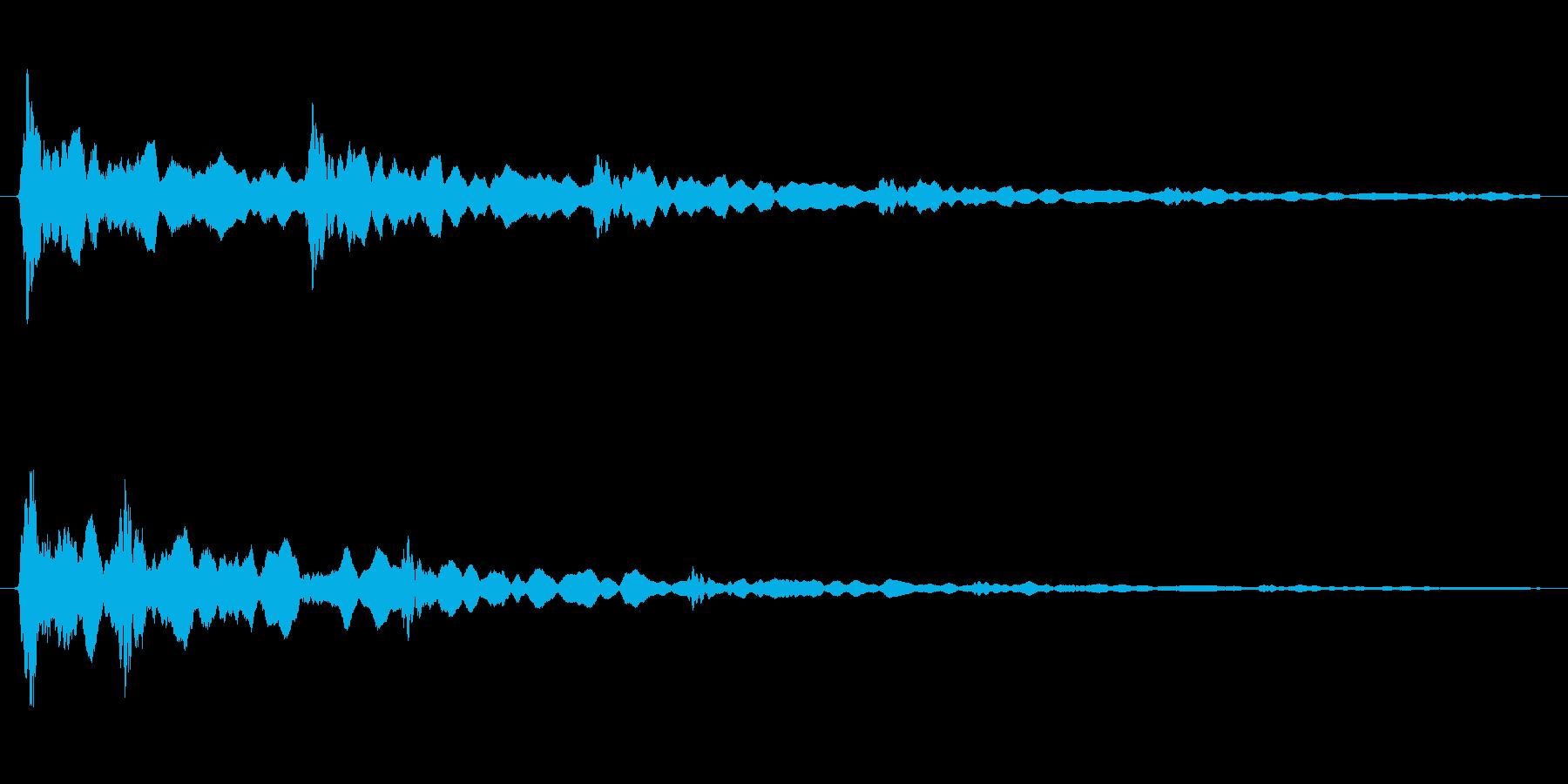 閃いた時の「ピキーン」という感じの音の再生済みの波形