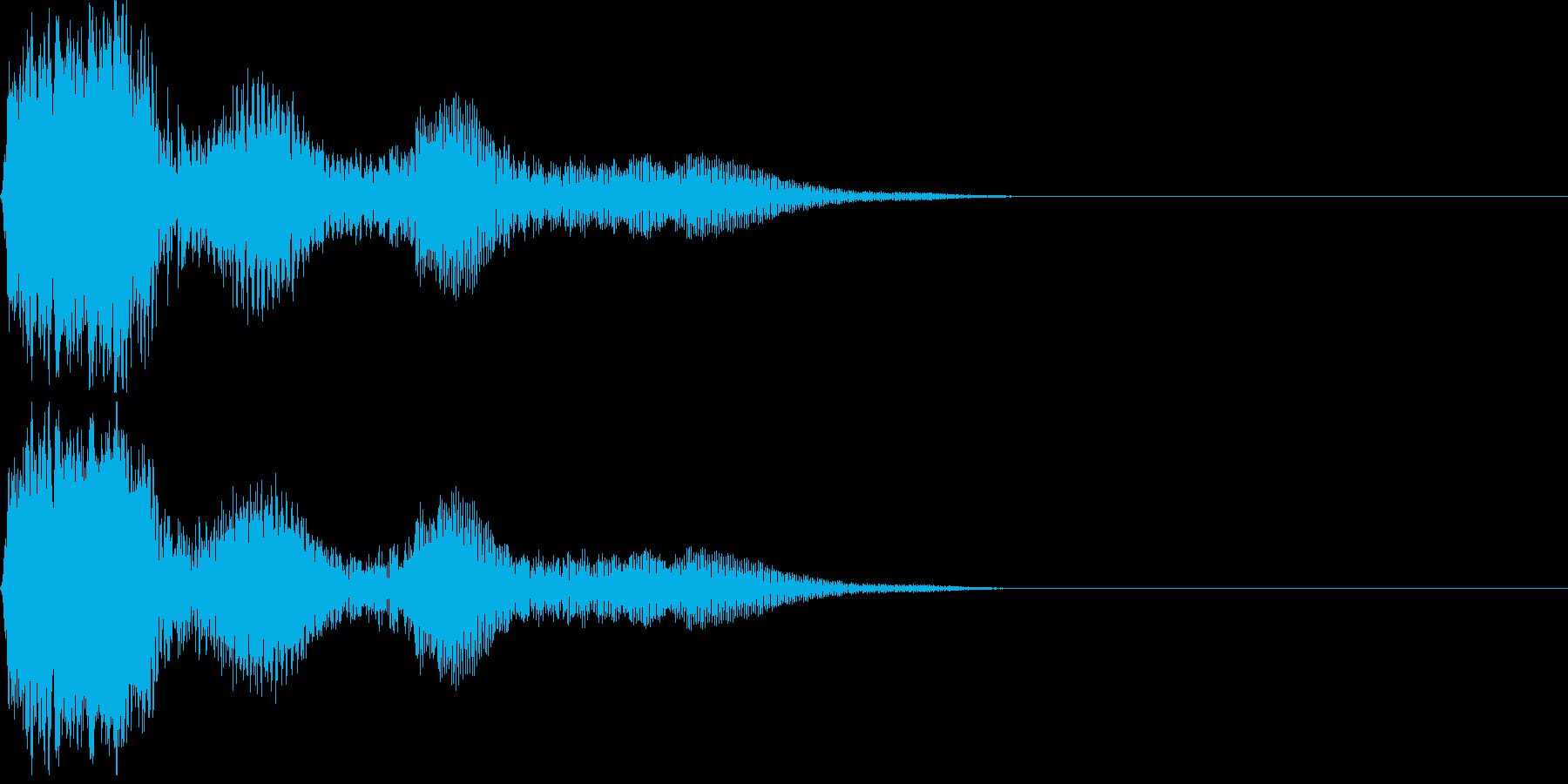 ボタン押下や決定音_ポピン!の再生済みの波形