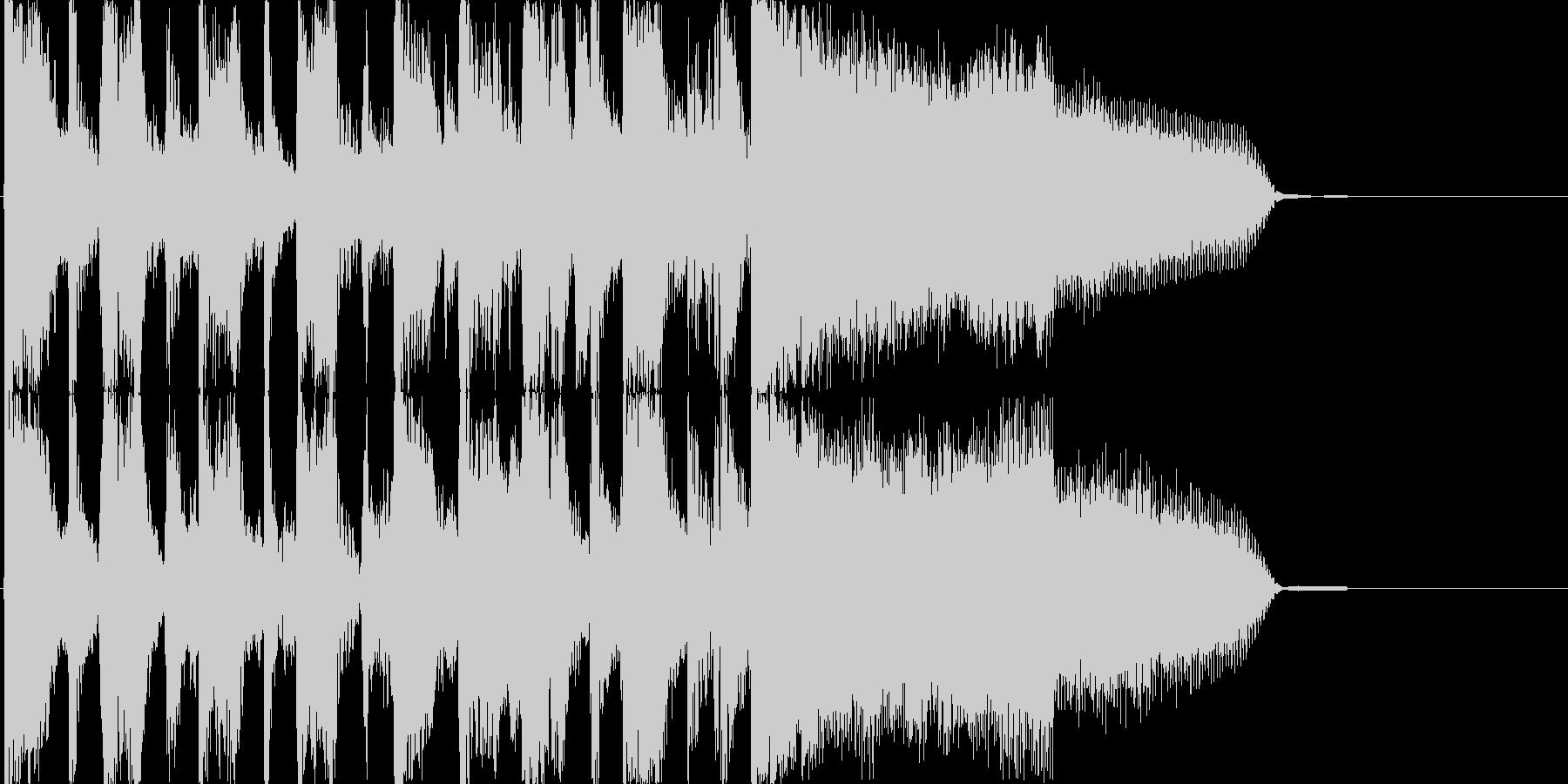 おしゃれで少しかわいい、生演奏ジングルの未再生の波形
