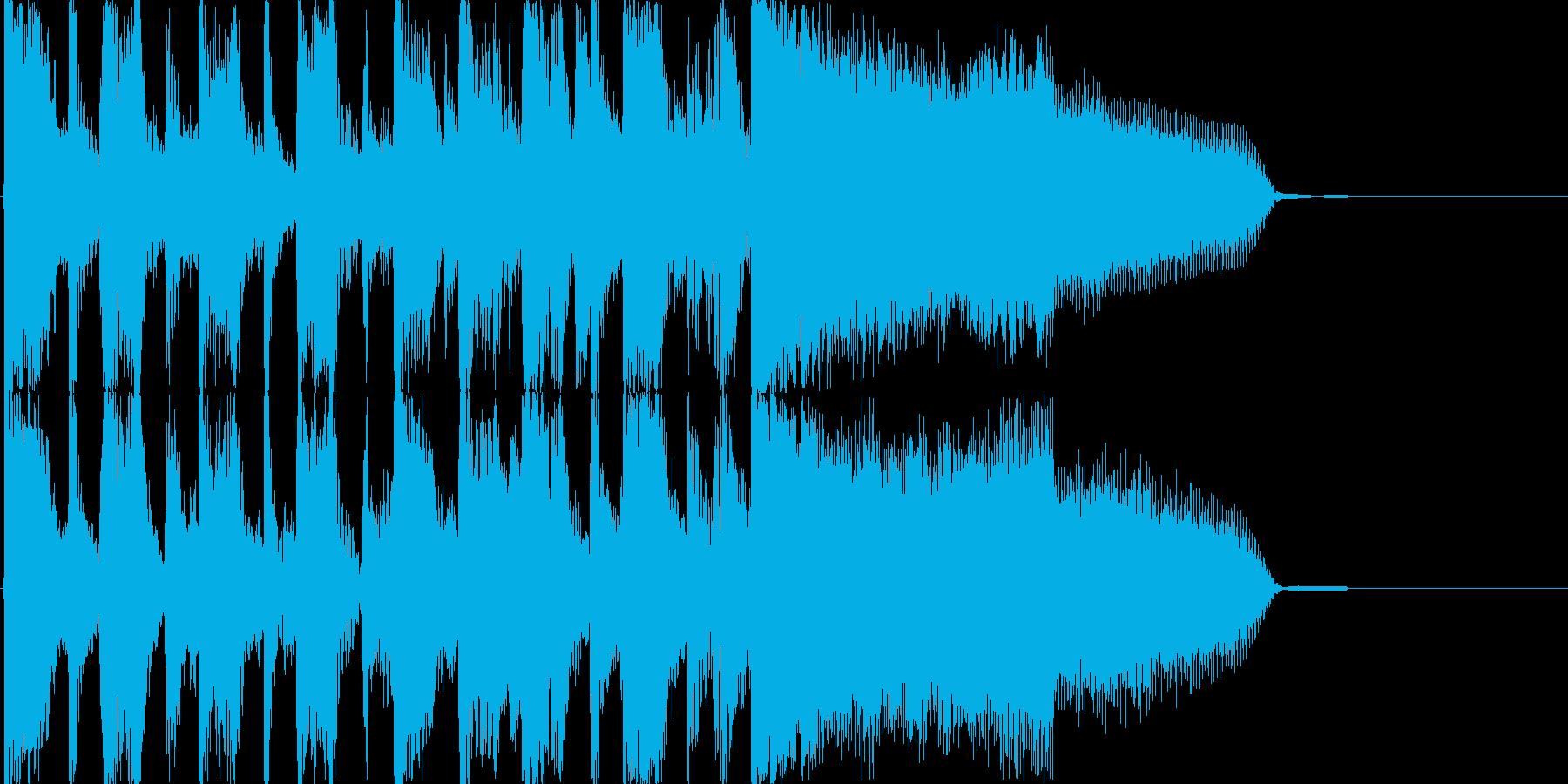 おしゃれで少しかわいい、生演奏ジングルの再生済みの波形