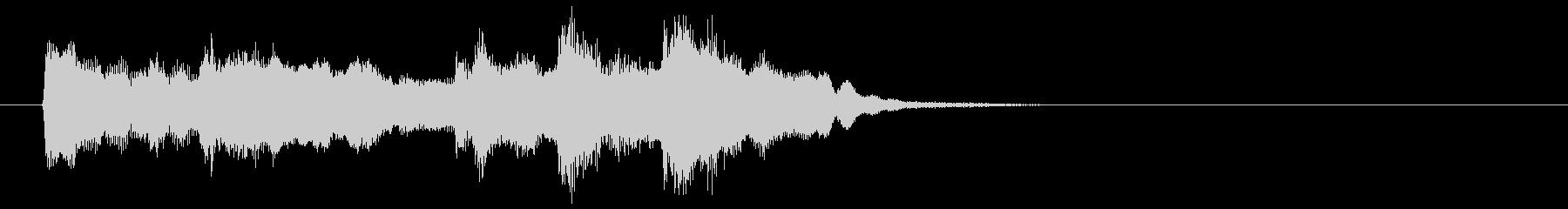 フルートの音色が美しい曲の未再生の波形