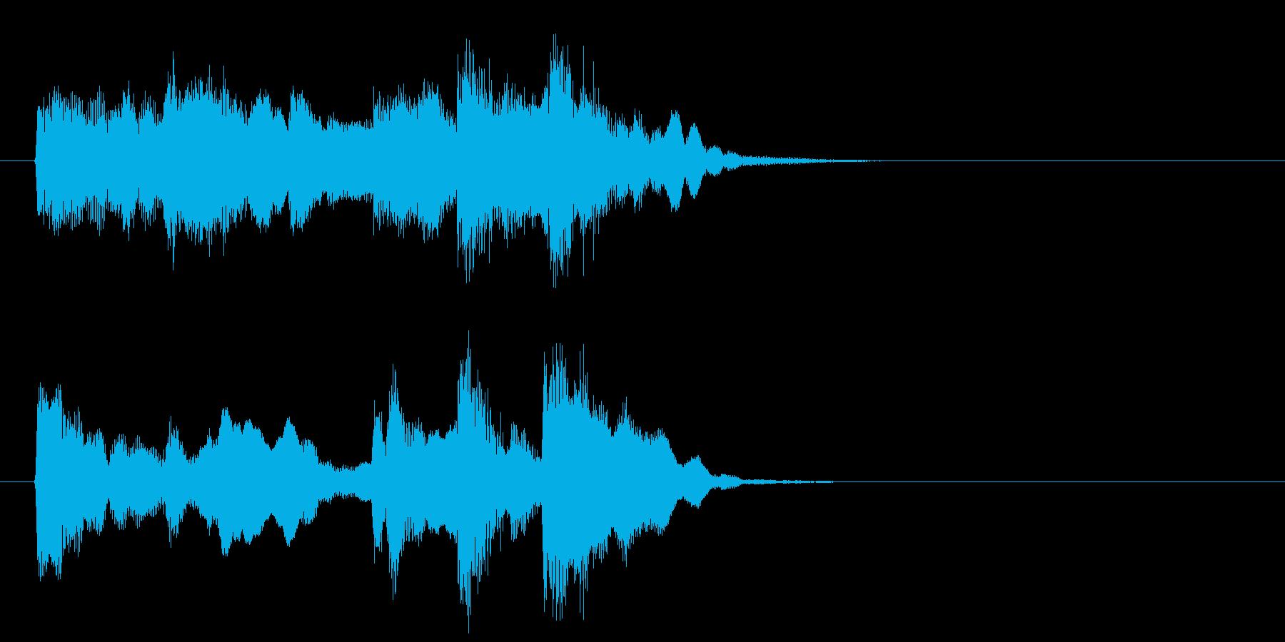 フルートの音色が美しい曲の再生済みの波形