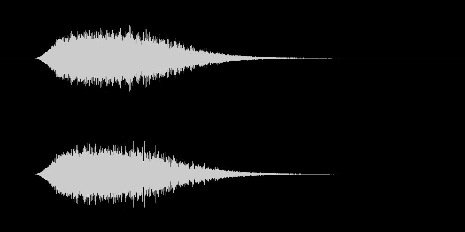 シューン ヒューン 飛ぶ シューティングの未再生の波形