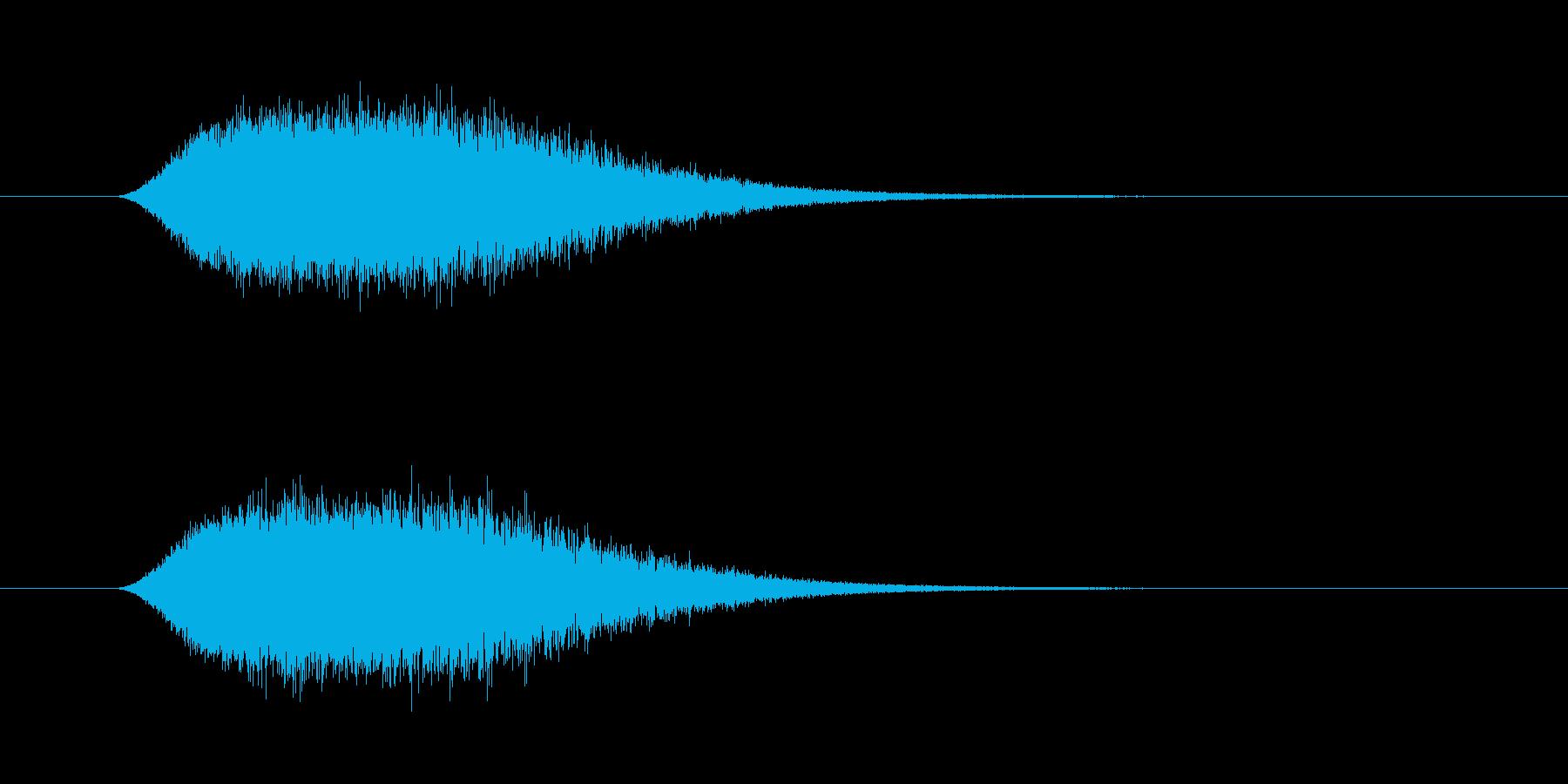 シューン ヒューン 飛ぶ シューティングの再生済みの波形