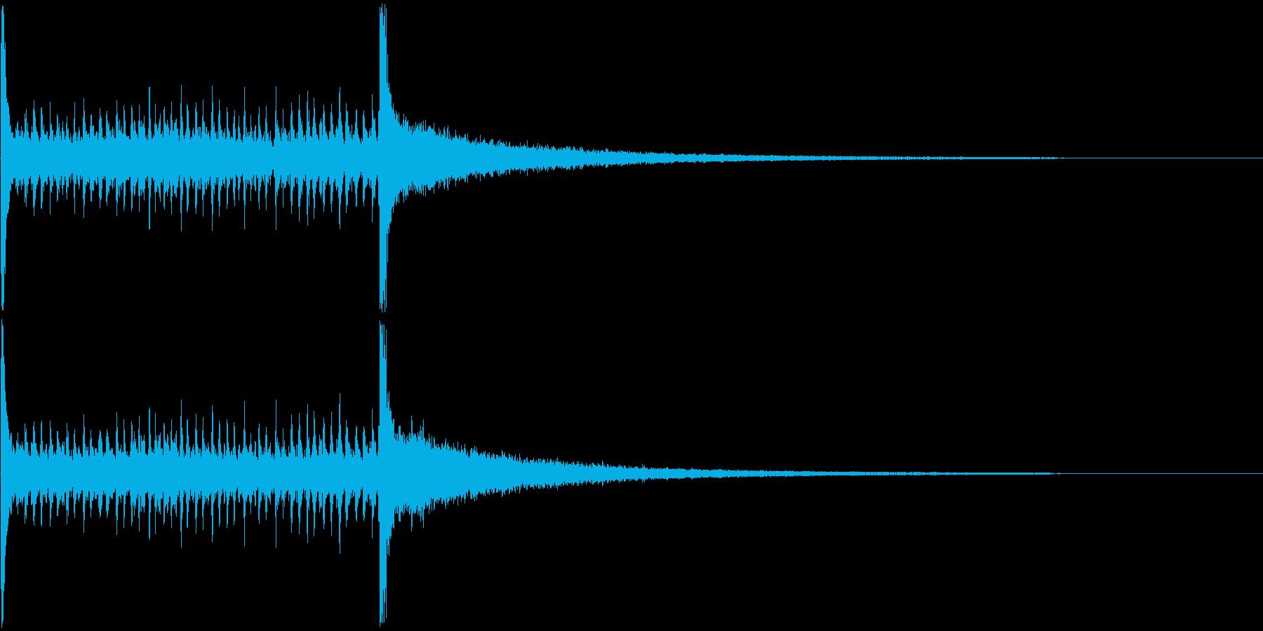 ドラムロールAの再生済みの波形