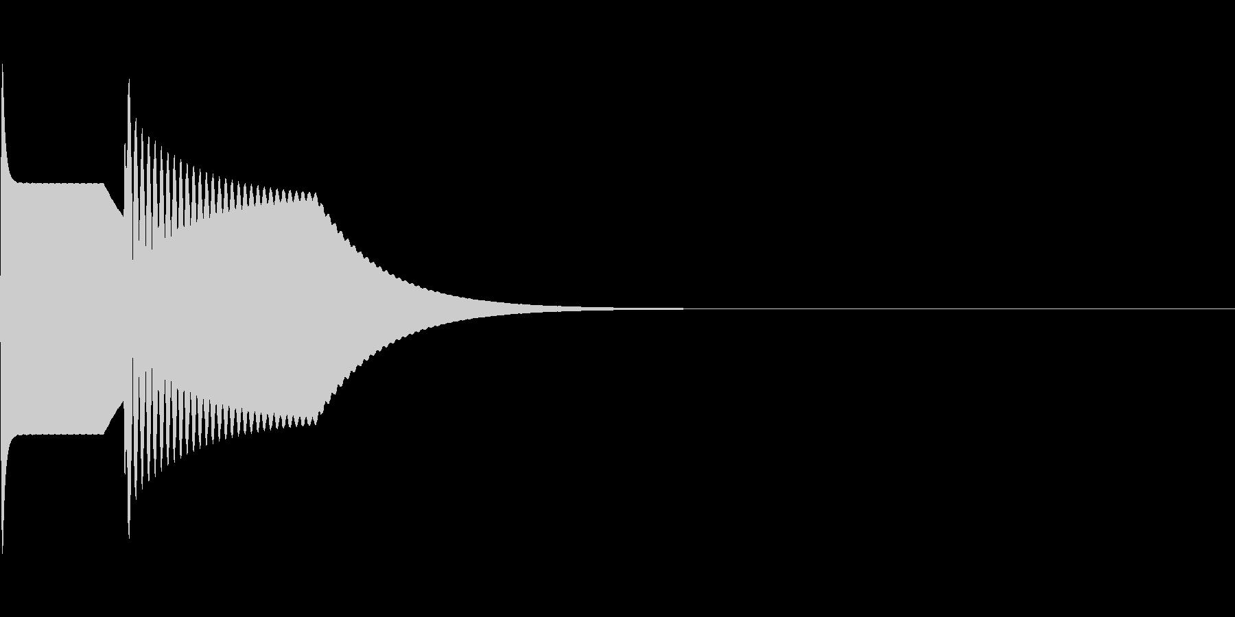 ピンポーン(正解)の未再生の波形