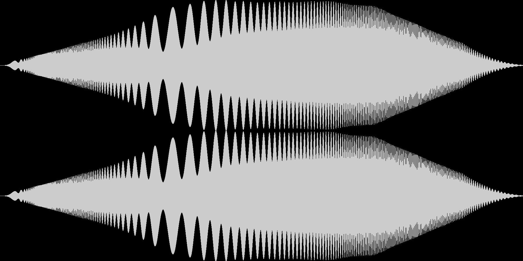ぴゆわぁお みたいな音です。の未再生の波形