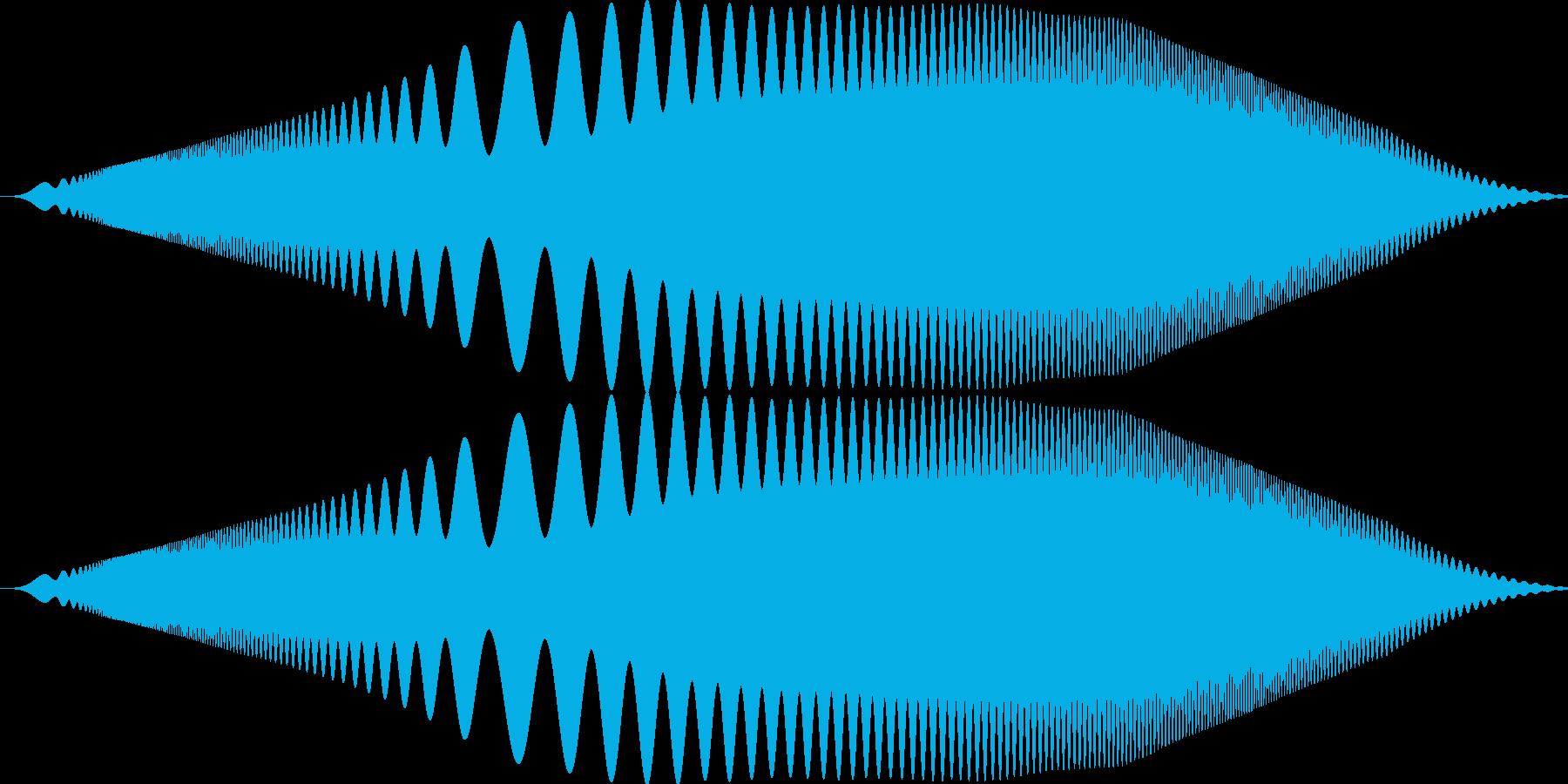 ぴゆわぁお みたいな音です。の再生済みの波形