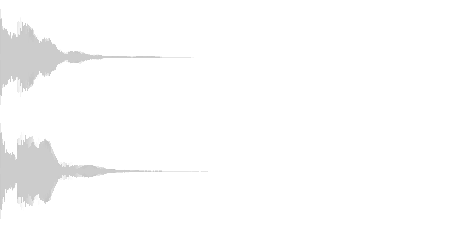 決定音49_シンセAGの未再生の波形