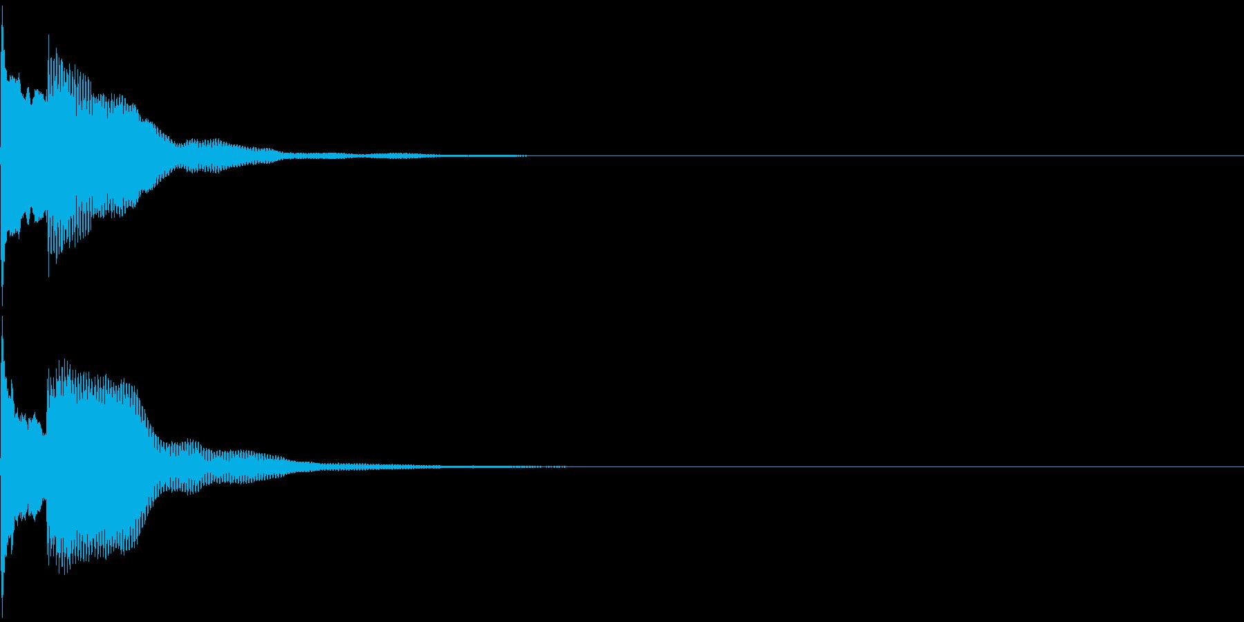 決定音49_シンセAGの再生済みの波形