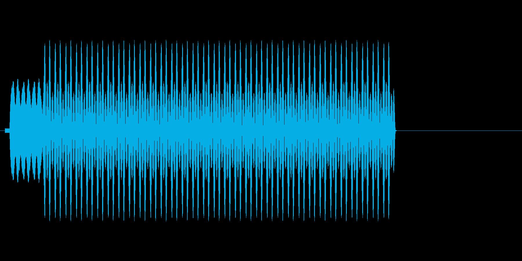 パチンコ用効果音の再生済みの波形