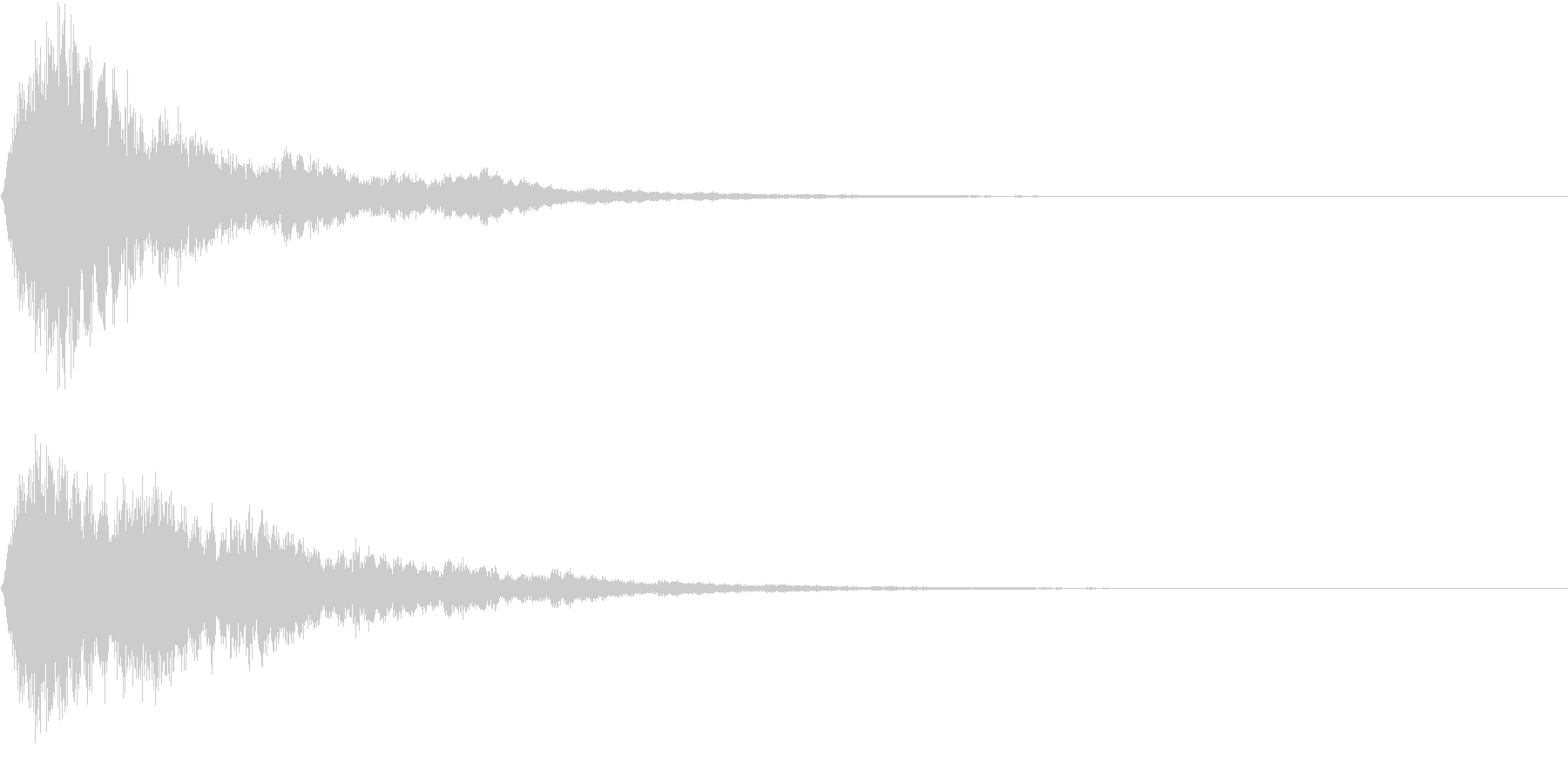 EMail 送受信音 認証 報酬GETの未再生の波形