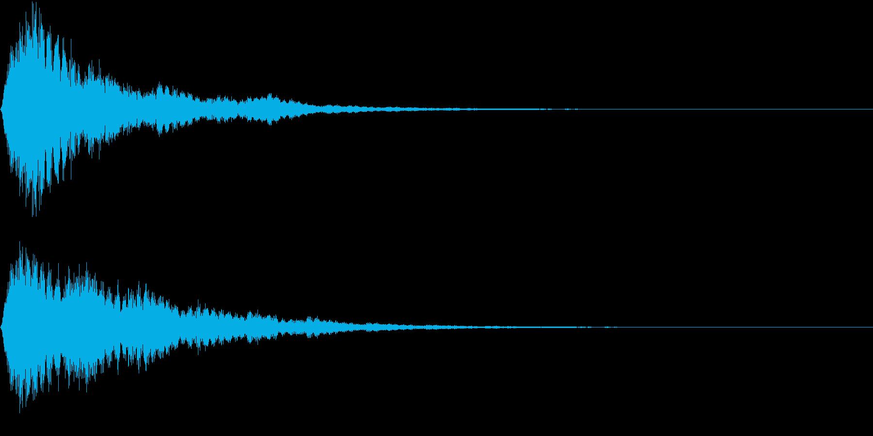 EMail 送受信音 認証 報酬GETの再生済みの波形
