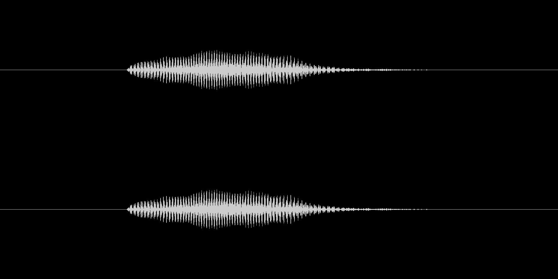 【数字】2(に)の未再生の波形