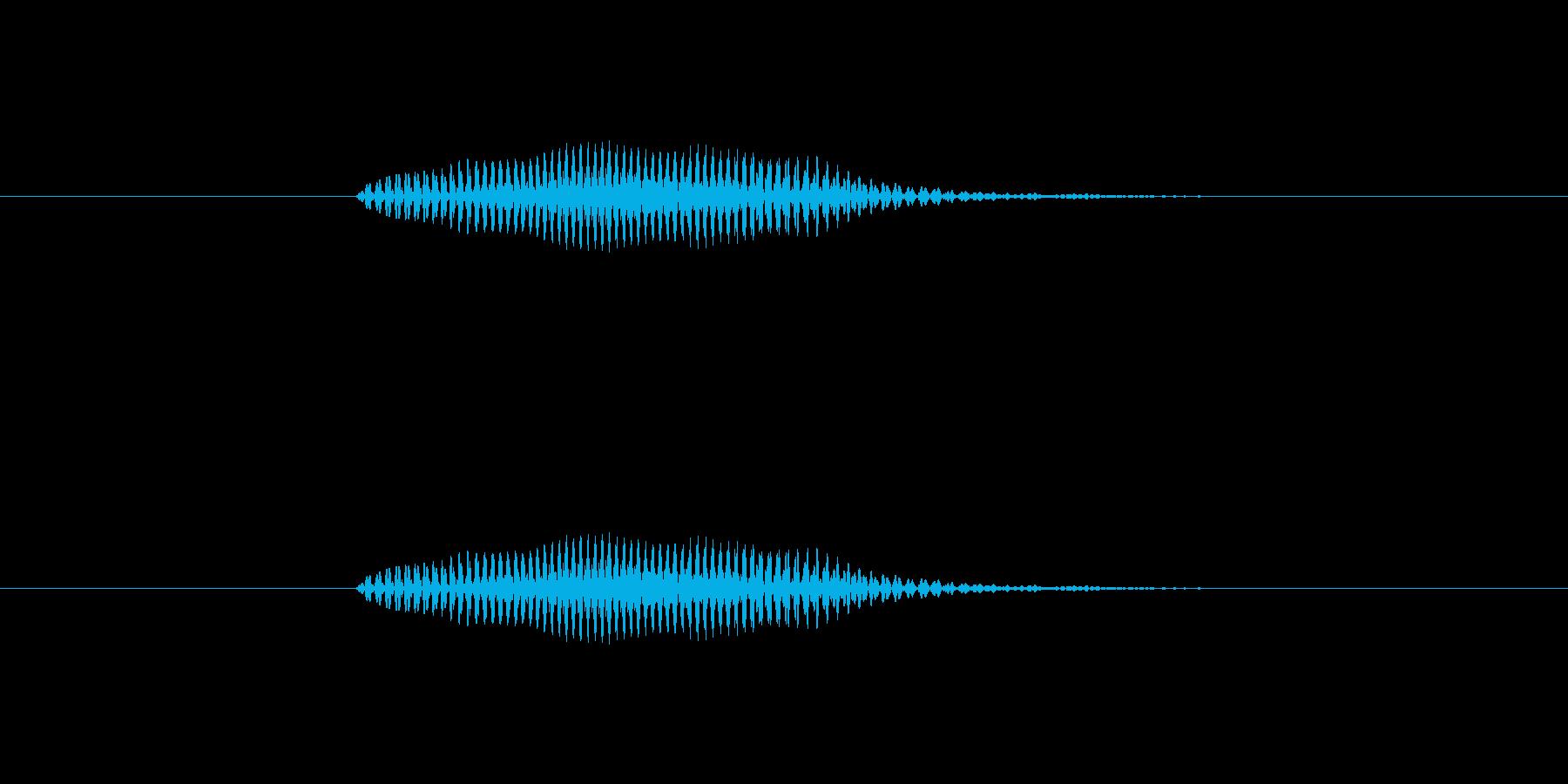 【数字】2(に)の再生済みの波形