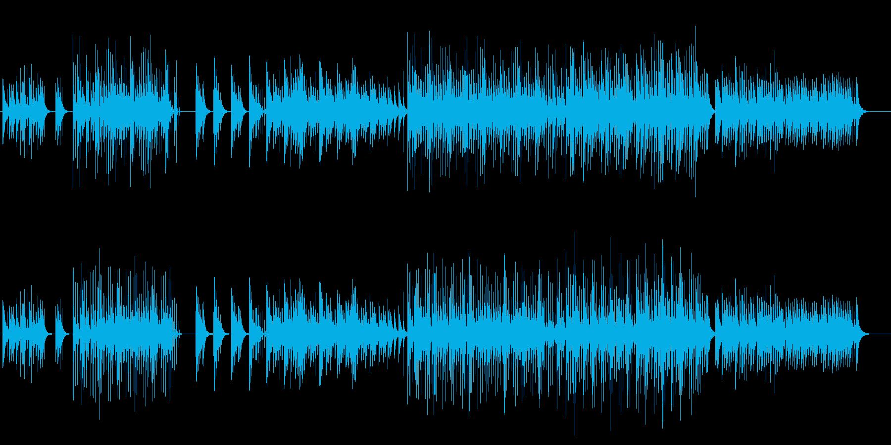 不気味さと不安を感じるオルゴールの曲の再生済みの波形