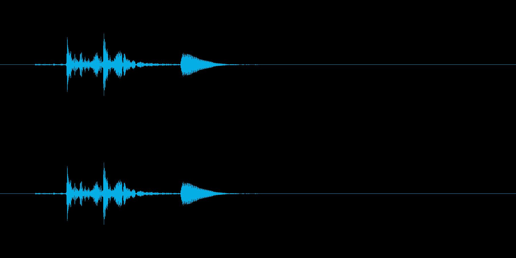 【生音】「ぼわん」という水中からの泡の音の再生済みの波形
