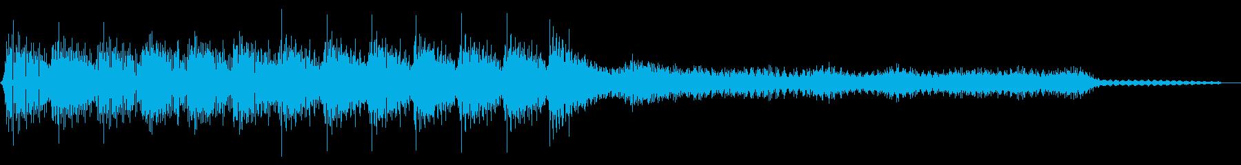 ピコピコ音のゲームクリア ステージクリアの再生済みの波形