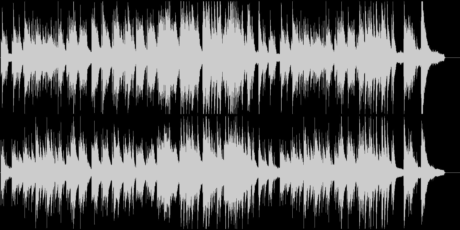 シンプルで王道な、優しいピアノバラードの未再生の波形