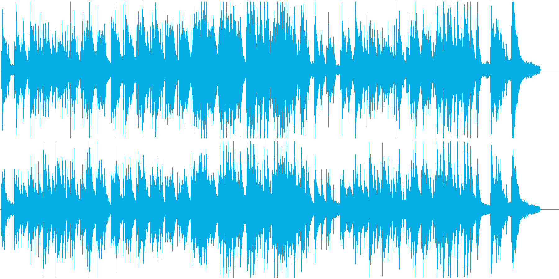 シンプルで王道な、優しいピアノバラードの再生済みの波形