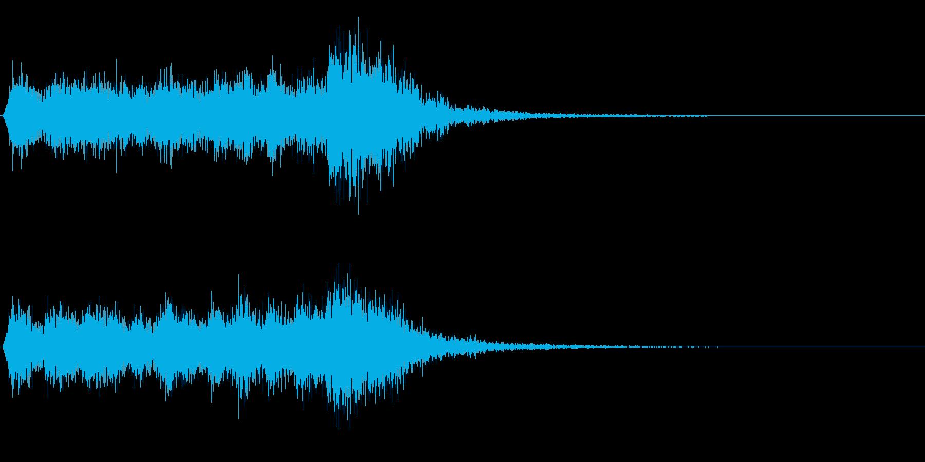 パワフルで短い金管ファンファーレの再生済みの波形