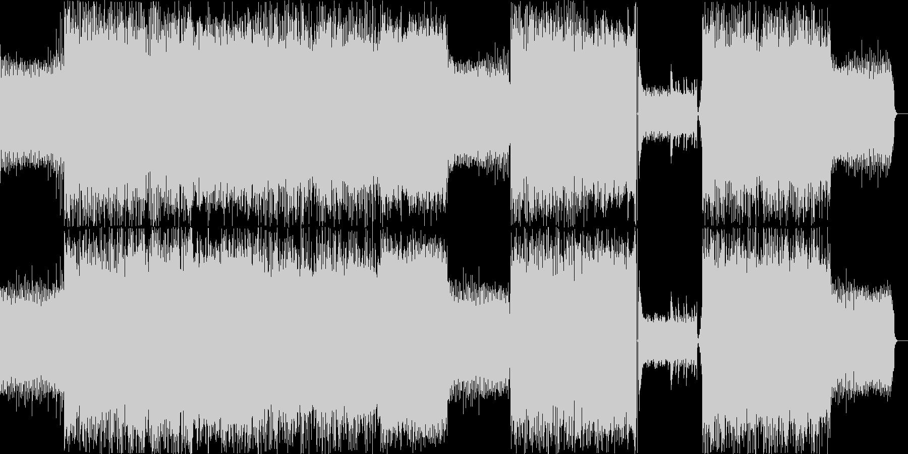 鍵盤主体の落ち着いたエレクトロニカの未再生の波形
