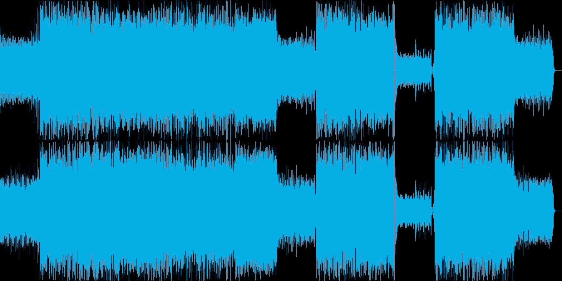 鍵盤主体の落ち着いたエレクトロニカの再生済みの波形