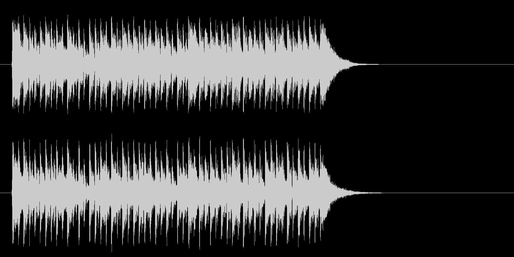シュプールを描くポップ(Aメロ)の未再生の波形