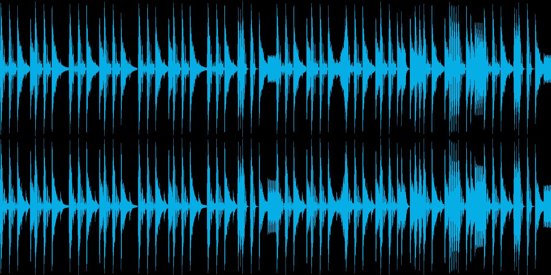 ノリの良いブレークビーツ_003の再生済みの波形