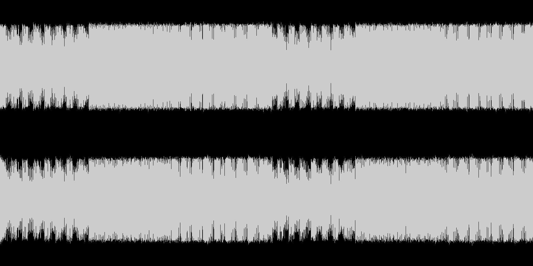 緊迫感と焦燥感のある電子系ボス系の曲の未再生の波形
