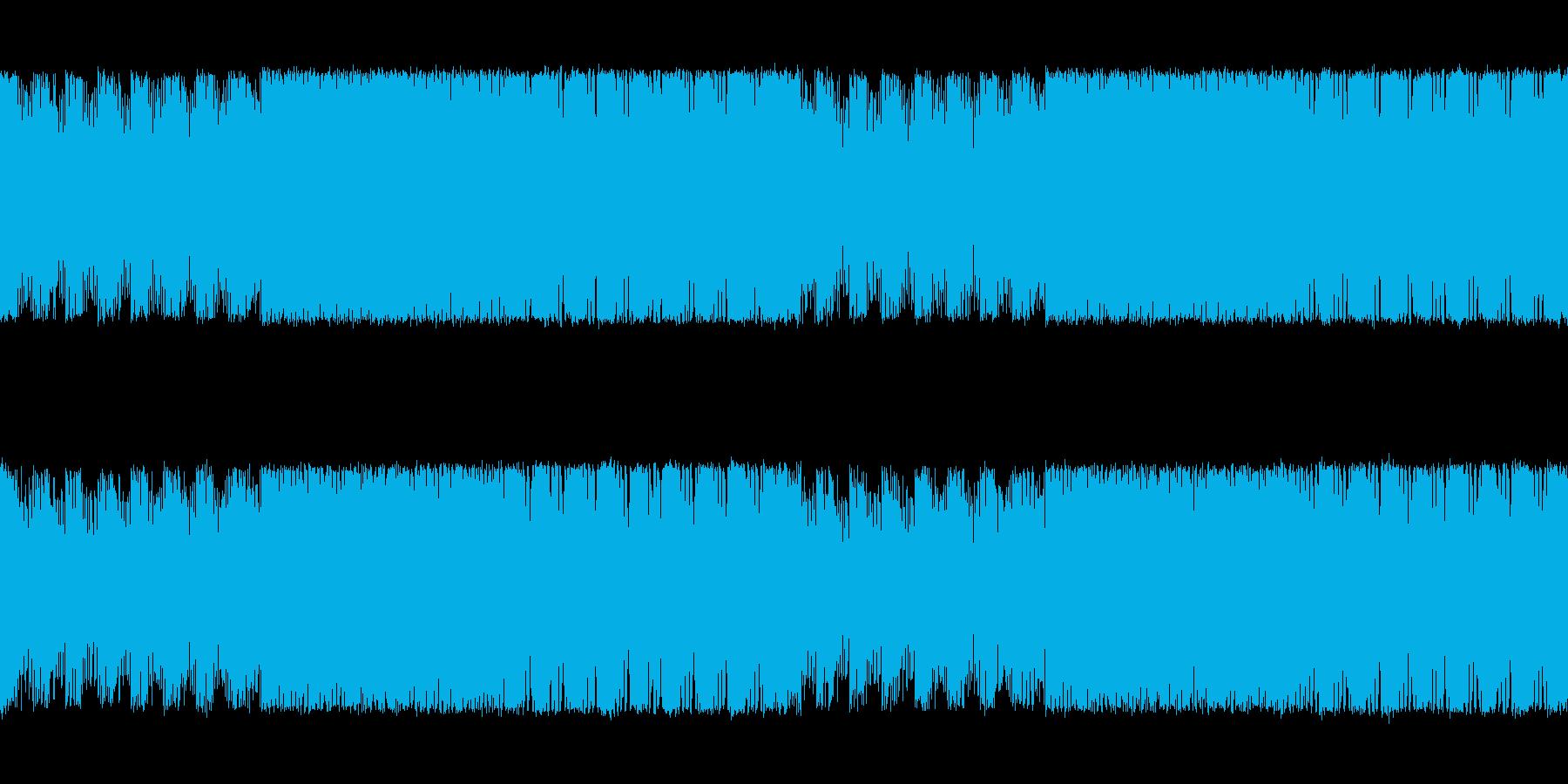 緊迫感と焦燥感のある電子系ボス系の曲の再生済みの波形
