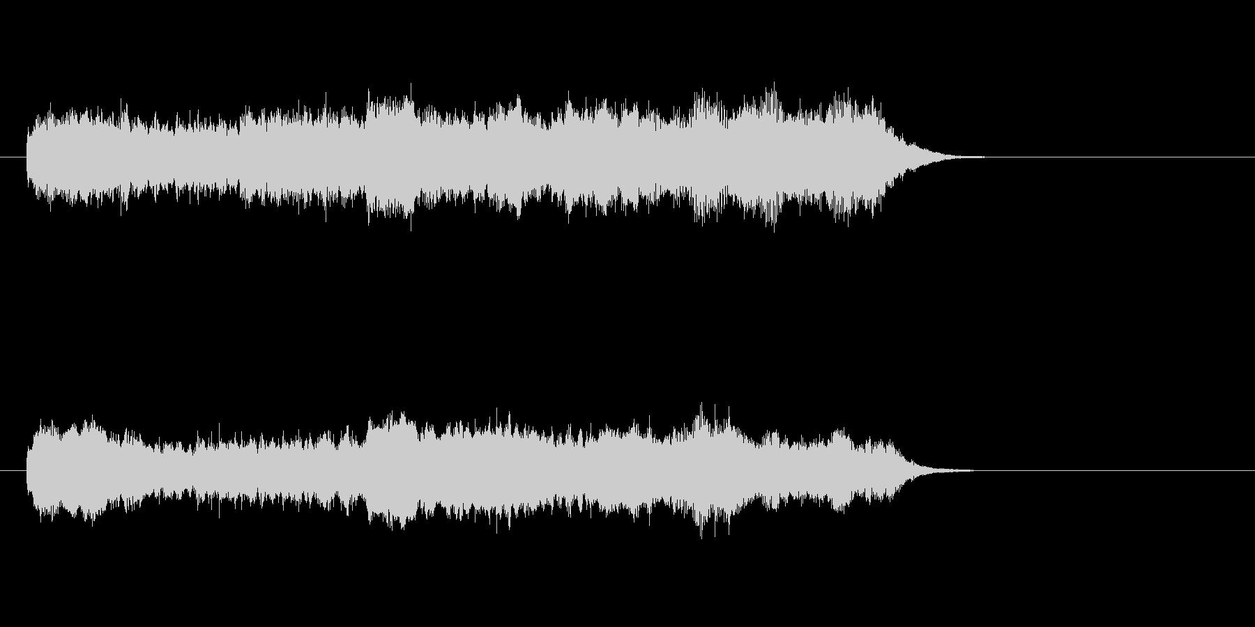 ジングル(バロック風)の未再生の波形