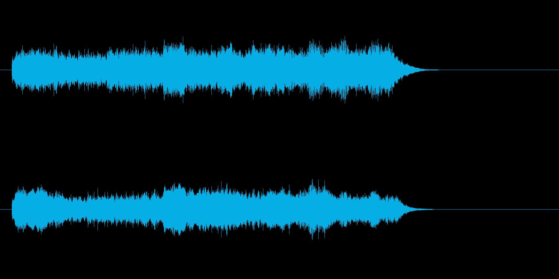 ジングル(バロック風)の再生済みの波形