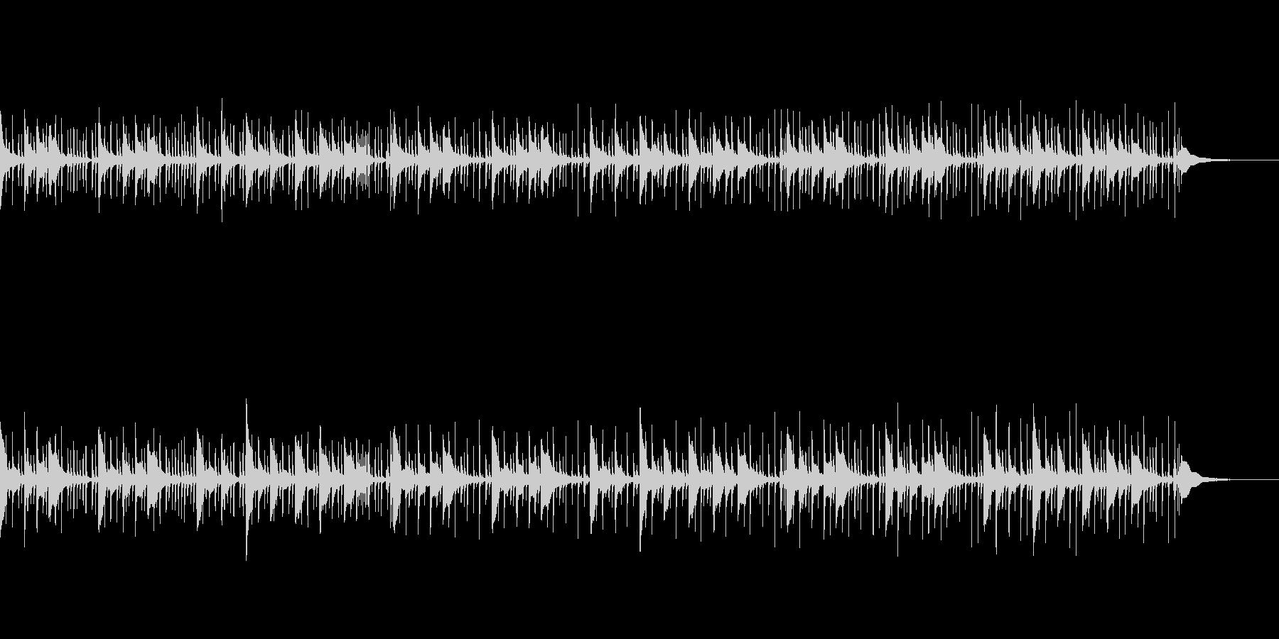琴とパーカッションのエキゾチックなBGMの未再生の波形