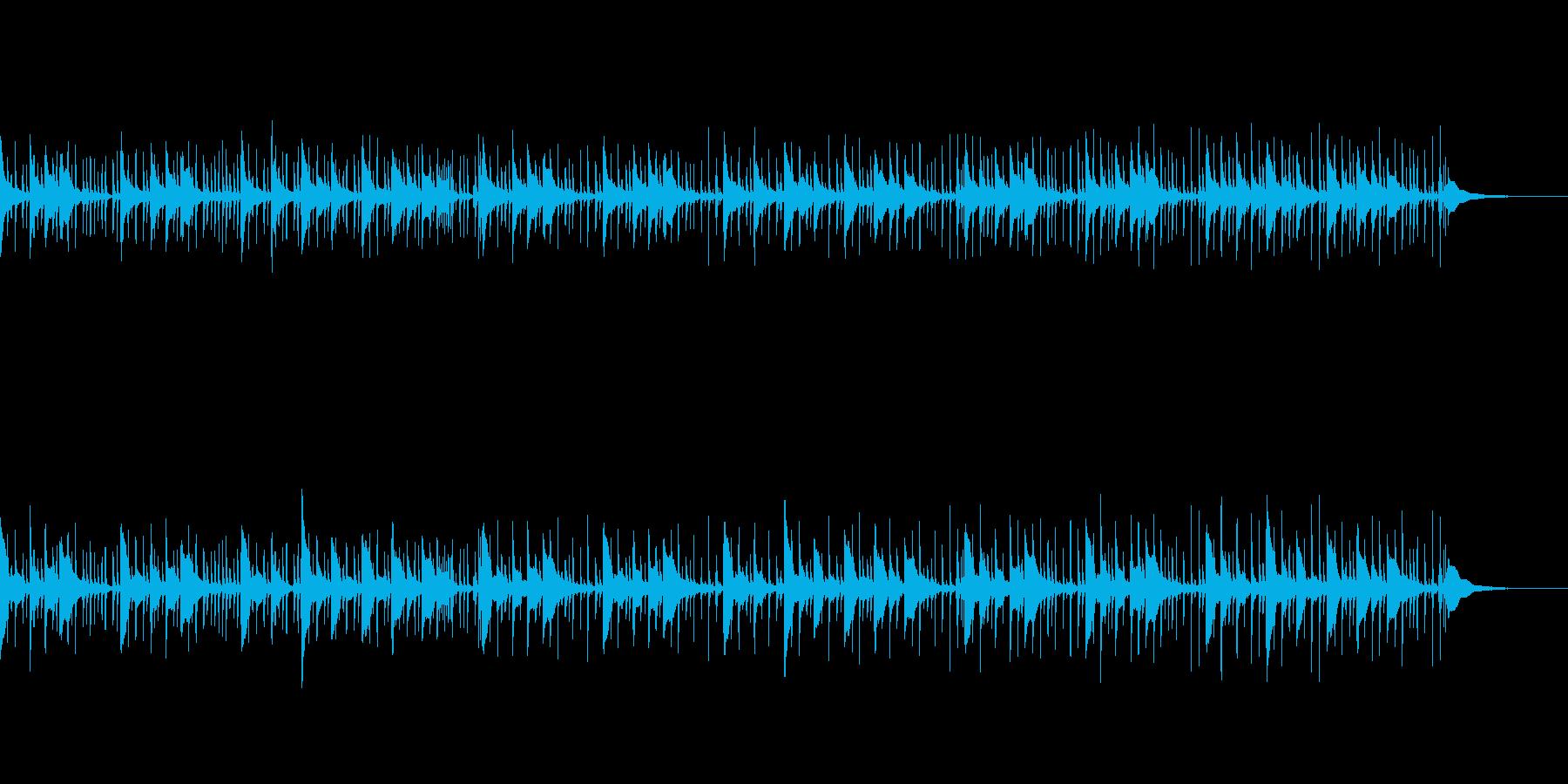 琴とパーカッションのエキゾチックなBGMの再生済みの波形