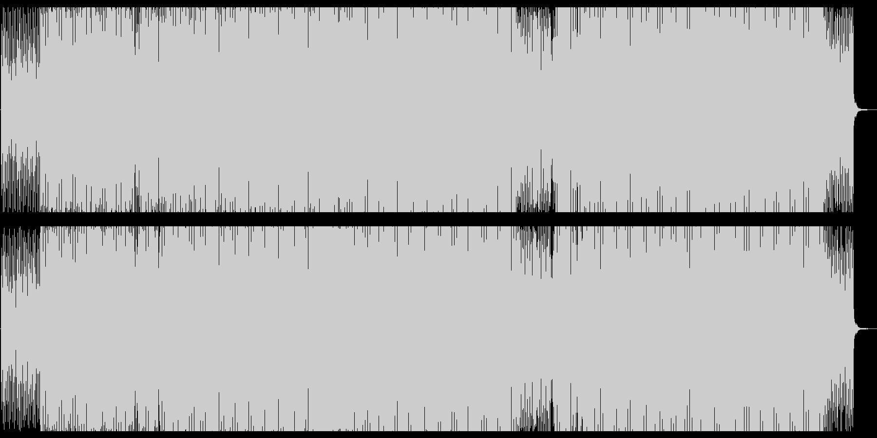 不安感や緊張感を煽るイメージのテクノの未再生の波形