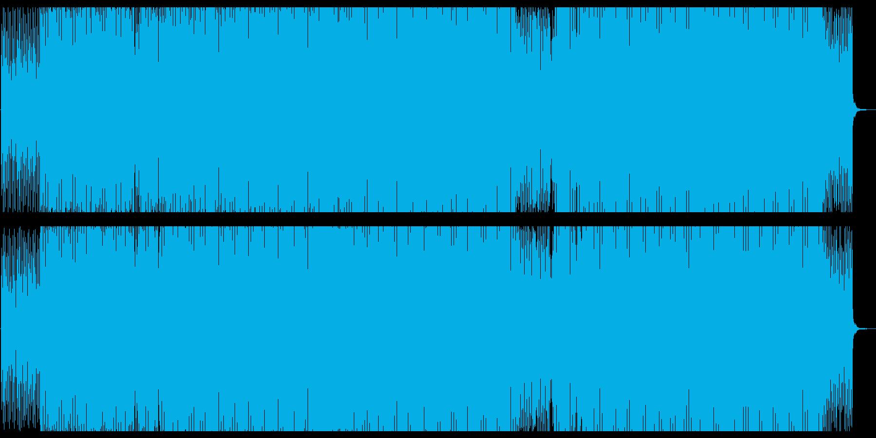 不安感や緊張感を煽るイメージのテクノの再生済みの波形