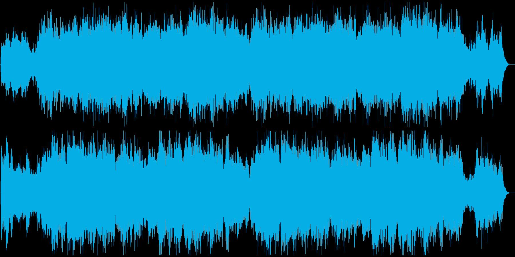ゲームの悲しいオープニングCGムービーにの再生済みの波形